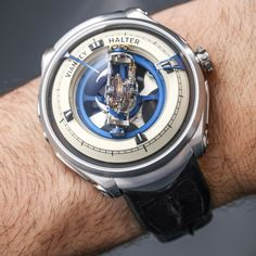"""Vianney Halter Deep Space Tourbillon Watch Hands-On - by Ariel Adams - More shots of this incredible piece at: aBlogtoWatch.com - """"It took me several years to finally track down a Vianney Halter Deep Space Tourbillon watch to check out hands-on. My opportunity came only after seeing the man himself wearing it. It was back in 2013 when Vianney Halter released this science-fiction-themed über-gizmo that playfully combined traditional haute horology with modern themes..."""""""