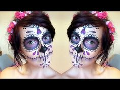 Halloween How To: Sugar Skull Makeup Tutorial ♥ Day Of The Dead - YouTube