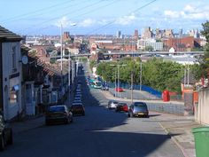 Looking down Argyle Street South towards Central Station, with Hinderton Road to the right.