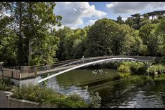 Knight completes Brunel-inspired bridge over Thames | News | Building Design Bridges Architecture, Architecture Awards, Thames Path, River Thames, Chiswick Park, Isambard Kingdom Brunel, Berkeley Homes, Construction News, Brick Arch