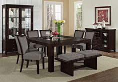 "Tango Gray Dining Room Collection | Furniture.com-60"" Dining Table $399.99"
