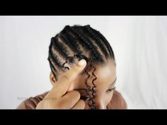 How To Latch Hook Weave With Crotchet Braids Step By Step Tutorial Hair Tips Part 3 - YouTube