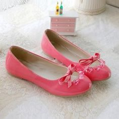 $16.61 Fashion and Sweet Style Bowknot Bead Embellished Round Head Design Women's Flat Shoes
