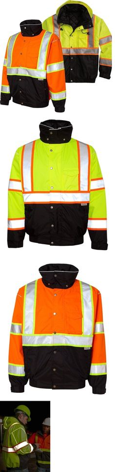 Jackets and Vests 175629: High Visibilty Ml Kishigo Brilliant Series Safety Bomber Jacket Black Bottom -> BUY IT NOW ONLY: $95 on eBay!