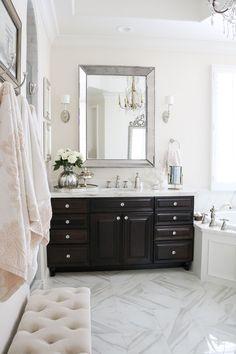 Elegant Master Bathroom Remodel-her sink