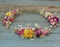 Provenza secas flor cabello corona por EnglishFlowerFarmer en Etsy