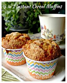 Baby Cereal Muffins (小孩麦片小松饼)  #guaishushu #kenneth_goh  #baby_cereal_muffins  #麦片小松饼