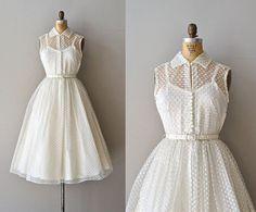 Little Dreamer wedding dress / swiss dot 50s wedding. Want want want want.