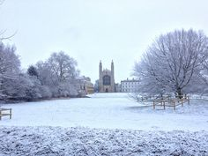 Snow makes for a beautiful punt tour of the Cambridge Backs - wrapped up with blankets and hot water bottles!