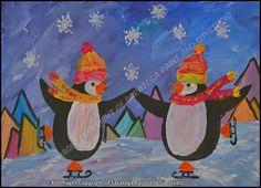 A PAIR OF PENGUINS at Saratoga Paint & Sip Studio