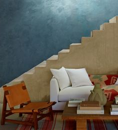 Love the blue and sand colored walls Polished Patina