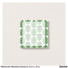 d19d7f6170058f Watercolor Monstera Leaves Post-it Notes