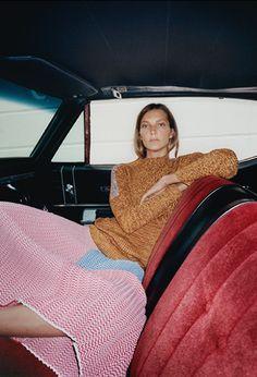 Daria Werbowy in Céline Resort 2015 campaign // Photo by Jeurgen Teller