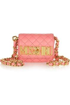 Quilted mini leather shoulder bag #shoulderbag #women #covetme #Moschino