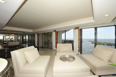 Sitting area in Yacht Harbour unit in Coconut Grove overlooking Sailboat Bay.