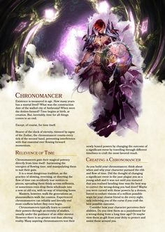 DnD 5e Homebrew — Chronomancer class by  Zst0rm