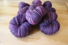 Hand Dyed Yarn / NEW / Dark Eggplant Rose by phydeauxdesigns, $22.00