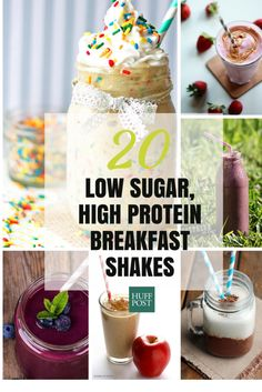 Healthy Smoothies Recipe 20 Low-Sugar Protein Shake Recipes To Fuel Your Mornings - Have your birthday cake protein shake and drink it, too! High Protein Snacks, High Protein Smoothies, Protein Smoothie Recipes, High Protein Breakfast, High Protein Low Carb, Diabetic Smoothies, Ketogenic Breakfast, Ketogenic Diet, Protein Bars