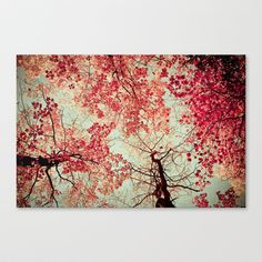 Autumn Inkblot Stretched Canvas by Olivia Joy StClaire - $85.00