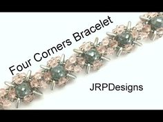 Four Corners Bracelet--Intermediate to Advanced Tutorial Left Hand - YouTube