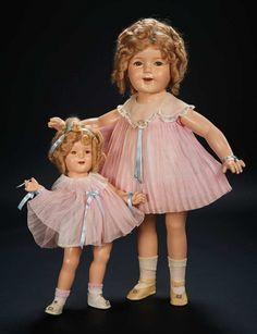 Love, Shirley Temple, Collector's Book: Lot # 347 American Composition Doll of Shirley Temple with Original Tagged Costume