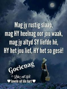 Goeie Nag, Special Quotes, Sleep Tight, Afrikaans, Good Night, Qoutes, Sayings, Gift Ideas, Wall