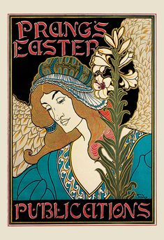 Beautiful Antique ART NOUVEAU POSTER by EncorePrintSociety on Etsy