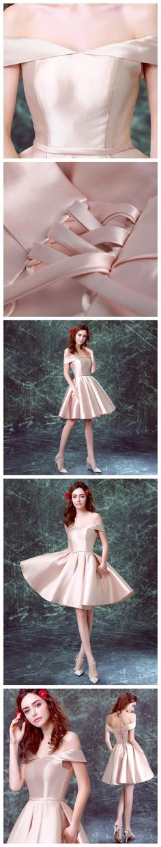 A-line Off-the-shoulder Short/Mini Tulle Short Prom Dress Homecoming Dresses Party Dress SKY460