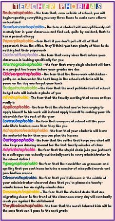 Enjoy Teaching English: Teacher Phobias