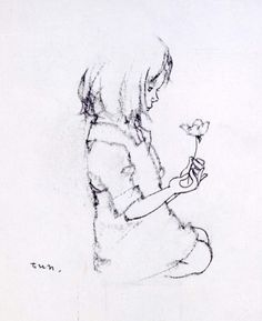 """""""Little Girl with Found Flower Petal"""" Iwasaki Chihiro From my favorite book of all time, Totto-Chan."""