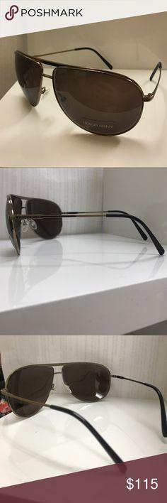 Giorgio Armani Men's/Unisex Sunglasses SIZE: 65-12-130  Giorgio Armani Men's/Unisex Sunglasses - 839/S VRZA6. Copper Bronze Brown Color with Brown Lens. Like New Condition, no damage, no scratches. No case or cleaning cloth Giorgio Armani Accessories Sunglasses