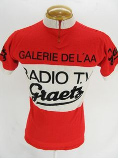 Mens Vintage Knit Radio TV Gaetz Mey Sport Racing Cycling Bike Jersey Sweater M Cycling Art, Cycling Jerseys, Cycling Bikes, Vintage Cycles, Ravenna, Vintage Knitting, Jersey Shirt, Vintage Men, Club