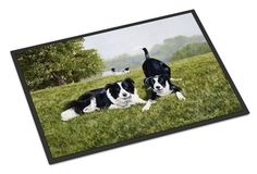 Let's Play Border Collie Indoor or Outdoor Mat 24x36 FRF0014JMAT
