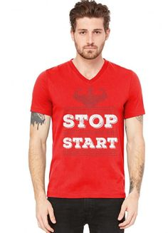 Stop Wishing Start Doing Motivational Quote V-Neck Tee