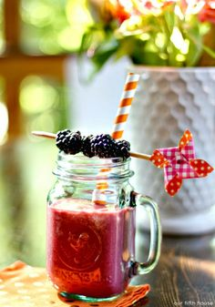 strawberry blackberry lemonade smoothie - Our Fifth House Healthy Smoothies, Smoothie Recipes, Drink Recipes, Iced Tea Lemonade, All Berries, Beverage Refrigerator, Berry Picking, How To Squeeze Lemons, Non Alcoholic