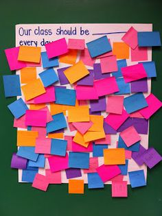 On the first day of school, ask students what they would like to see in their lessons every day. It's great to have student input in your planning!