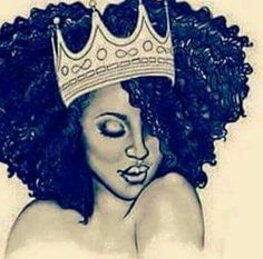 Pin by Esther Clark on Queen Esther/ Star in afro queen drawing collection - ClipartXtras Black Love Art, Black Girl Art, My Black Is Beautiful, Black Girl Magic, Art Girl, Black Girls, African American Art, African Art, Arte Black
