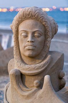 Sand Sculpture Seashell Lady   by Eric Kilby