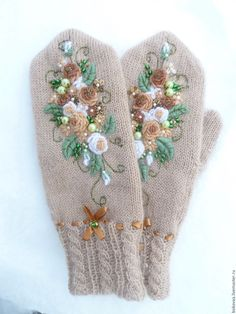 hot sale – Page 41 – skrladies Fingerless Mittens, Knit Mittens, Knitted Hats, Knitting Stitches, Baby Knitting, Knitting Patterns, Embroidery On Clothes, Hand Embroidery, Crochet Gloves