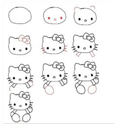 Disegnare hello kitty