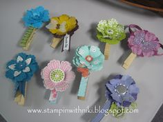Love the Blossom punch on a clothespin, link just goes to her blog and not specifically this post.
