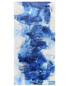 """""""Delicate Storm"""" Acrylic on canvas, 18x36 inches. $580 #artforsale #abstract #originalpainting Blue Abstract, Barber, Contemporary Art, Original Paintings, Delicate, Canvas, Color, Tela, Colour"""