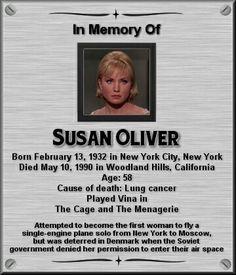 Susan Oliver Star Trek Actors, Star Trek Characters, Star Trek Original Series, Star Trek Series, Enterprise Ncc 1701, Star Trek Enterprise, Susan Oliver, Star Trek Crew, Star Trek Beyond