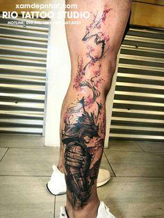 Samurai tattoo by nancy baron ink nyc leg tattoos, sleeve tattoos, body Japanese Warrior Tattoo, Japanese Leg Tattoo, Japanese Tattoo Designs, Japanese Sleeve Tattoos, Japan Tattoo Design, Samurai Tattoo Sleeve, Samurai Warrior Tattoo, Warrior Tattoos, Irezumi Tattoos