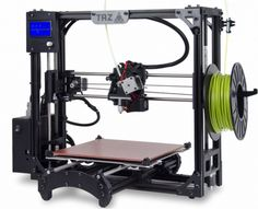 The LulzBot TAZ 5 is an open-frame printer capable of printing relatively large objects from a variety of filament types. Color 3d Printer, Desktop 3d Printer, Tool Design, Design Process, 3d Design, Impression 3d, 3d Printing Service, Printing Companies, 3d Printer Reviews