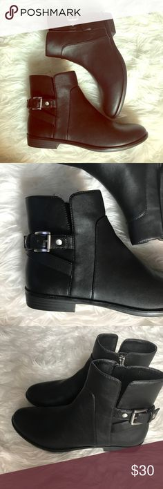 BASS- Moto ankle bootie- NWOT 8.5 You need to score these before fall comes. Pair with leggings or cuffed jeans. So beautiful!! NWOT made by Bass. Faux leather with buckle. Bass Shoes Ankle Boots & Booties