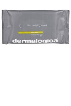 Clean up quick with Dermalogica wipes.   www.bareessentialsskinbar.com 790 richards street, vancouver