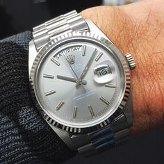 White daydate with non-lume gray dial rolex1803