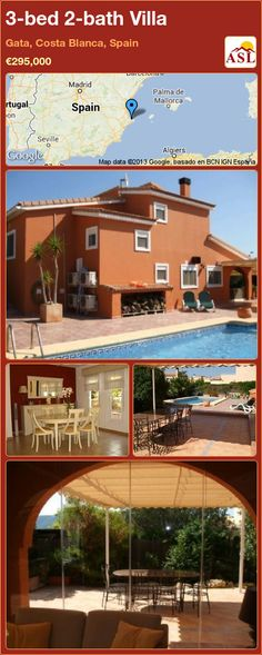 3-bed 2-bath Villa in Gata, Costa Blanca, Spain ►€295,000 #PropertyForSaleInSpain