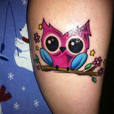 sugar owl tattoo things that are just pretty pinterest sugar rh pinterest com Cute Cartoon Owls Cartoon Owl Family